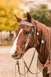 Serape Rose Headstall