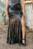 Sequin Black Skirt