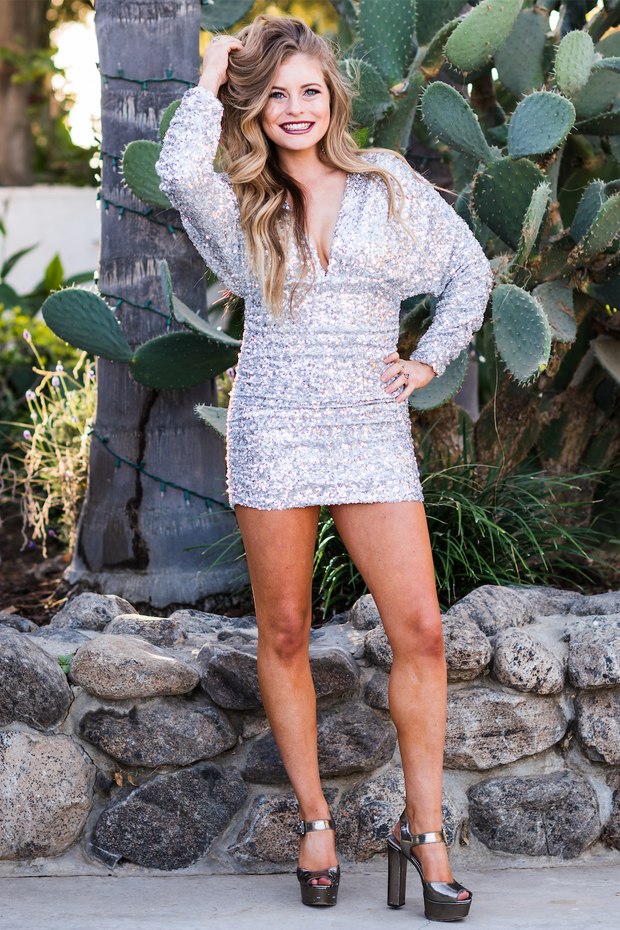 Silver Sequin Kali Dress