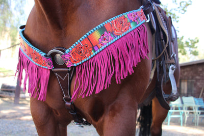 Serape Rose Breast Collar