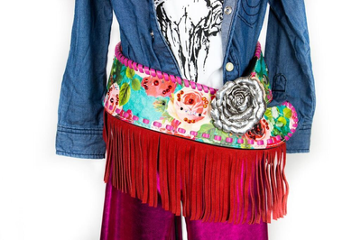 Blue Betty w/ fringe Kids Fashion Belt
