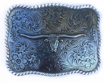 Silver Steer Head Buckle