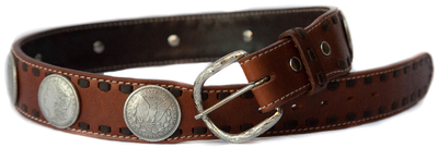 Brown Coin Rodeo Belt