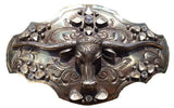 Steer Head w Clear Stones Buckle