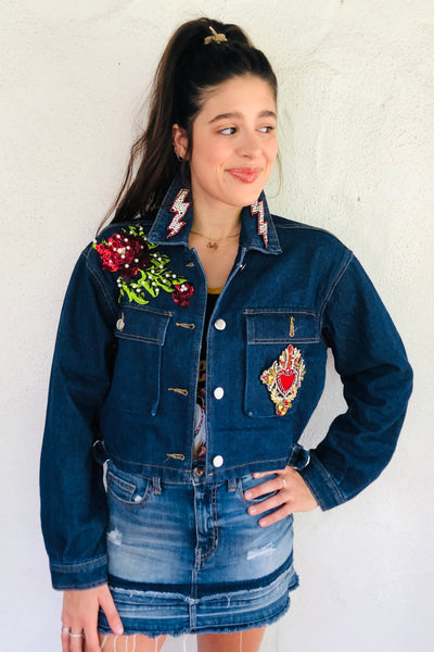 Heart of a Lion Denim Jacket