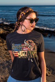 America The Brave Crew Neck Black