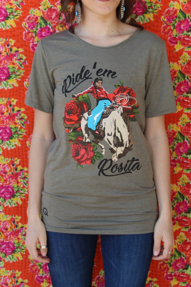 Ride 'Em Rosita Raw Neck Olive