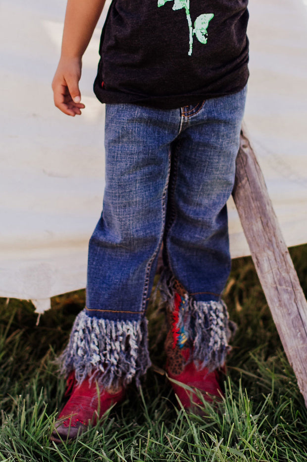 Fringe Denim Jeans Kids