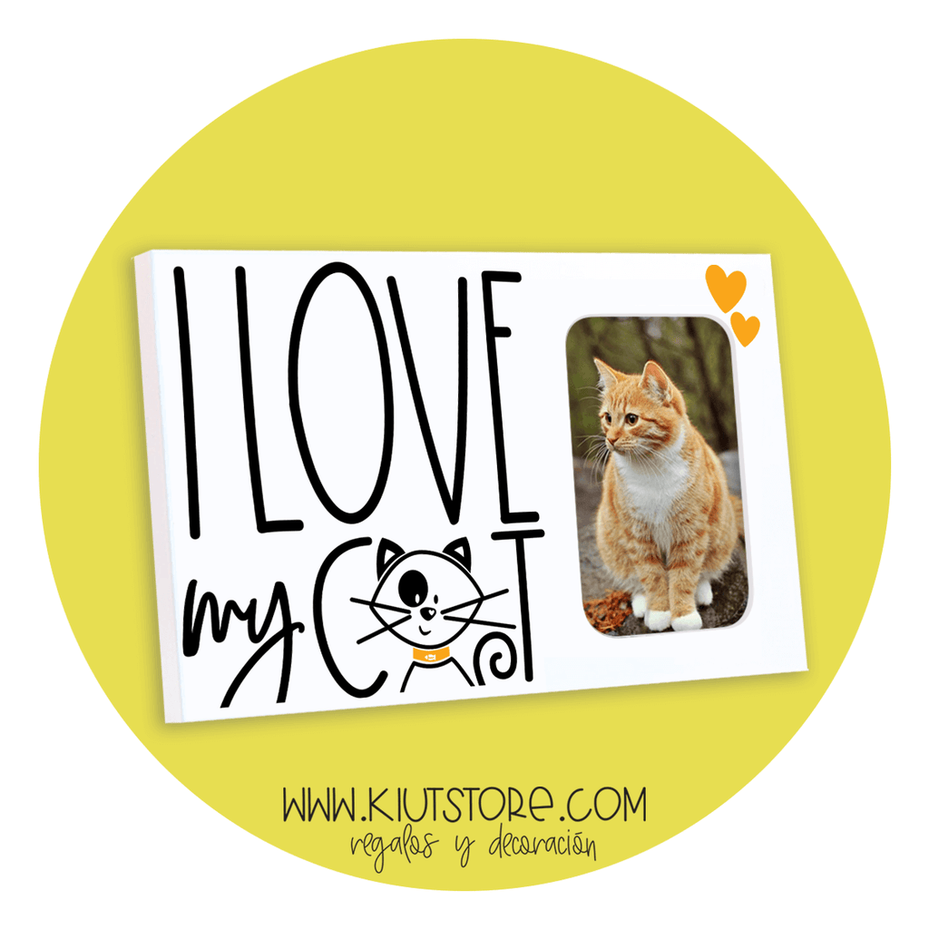 "PORTARETRATO ""I LOVE MY CAT""/P19751"
