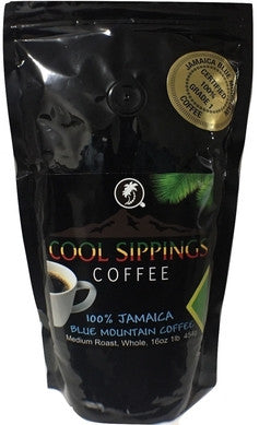 100% Jamaica Blue Mountain Coffee 1lb (Whole Beans)