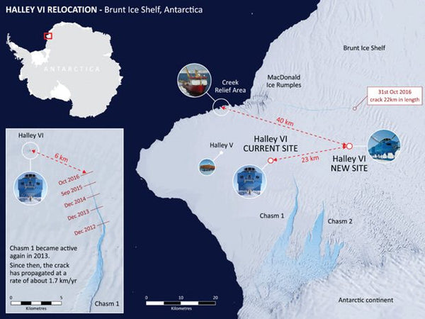 Map of the Halley IV Research Station Photograph - British Antarctic Survey