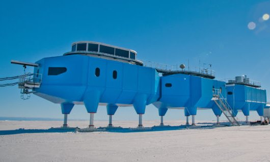 The British Antarctic Survey's Halley VI research station has recorded records data relevant to space weather, climate change, and atmospheric phenomena since 2012. Photograph - British Antarctic Survey.jpg