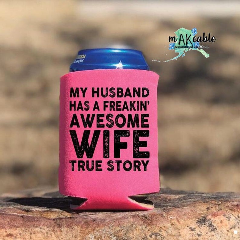 Awesome Wife Can Holder - Pink