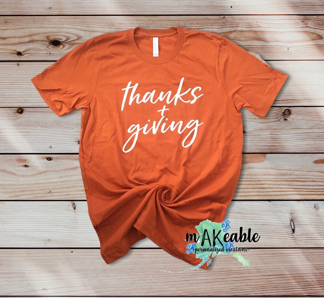 Thanks + Giving Graphic Tee