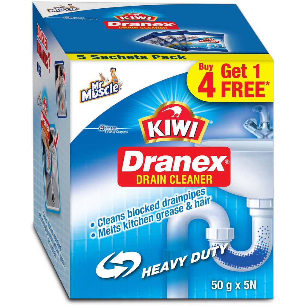 Mr. Muscle Kiwi Dranex Saver Pack - 50 g (Buy 4 get 1 Free)