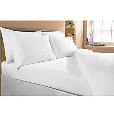 "Bombay Dyeing Plain Cotton Double Bedsheet With 2 Pillow Covers - 100 x 90"", White"