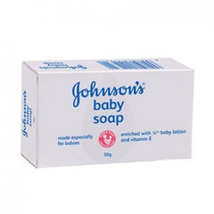 Johnson's baby soap -Enriched with 1/4 moisturizing baby lotion to help preserve baby skin's moisture even after cleansing Clinically proven mildness for baby's delicate skin Best for baby, causes no allergy or irritation to baby's skin No parabens and SLS, no dyes and alcohol Used by 9 out of 10 pediatricians on their own babies