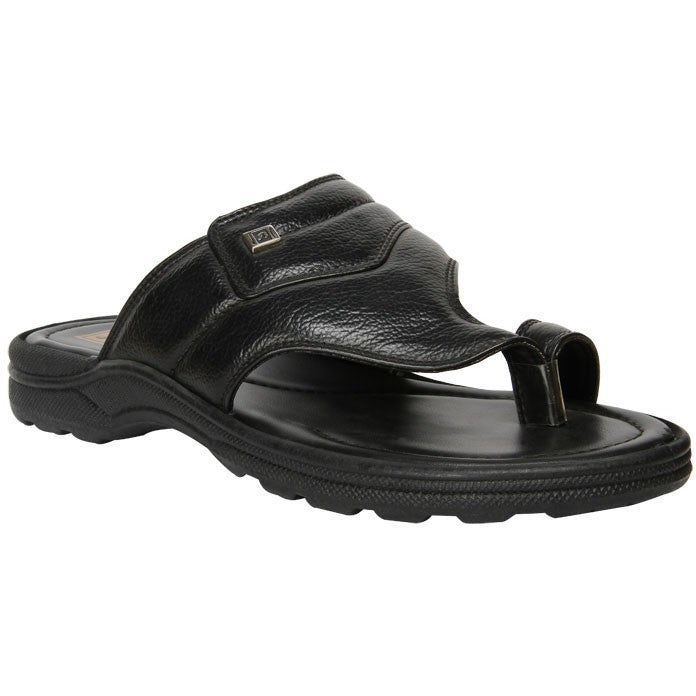MEN'S BLACK CHAPPALS