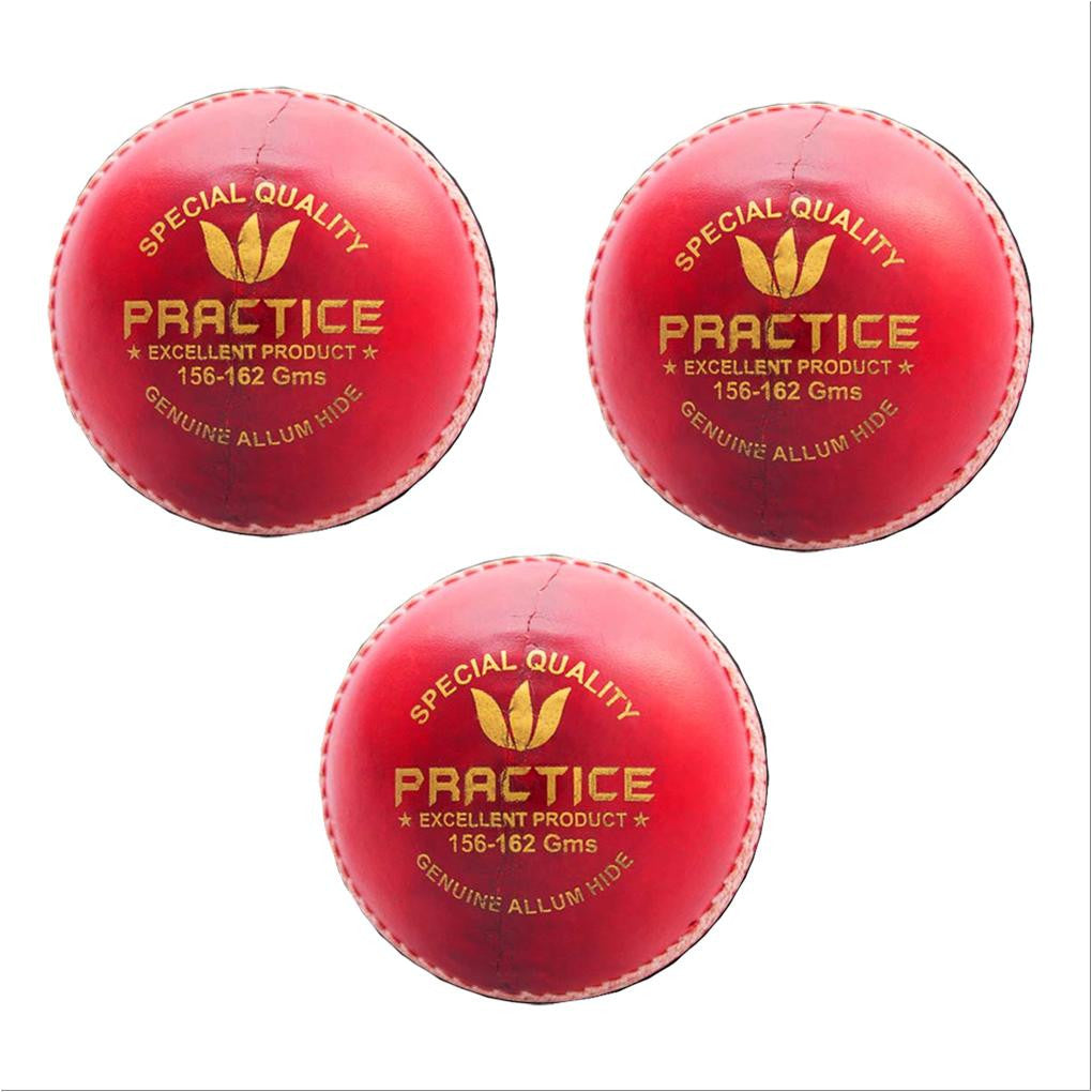 Aj Practice Cricket Ball Set of 3 Ball Red