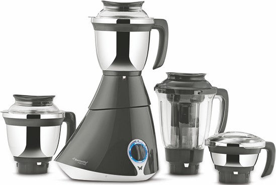 Butterfly Matchless 750-Watt Mixer Grinder with 4 Jars (Gray and White) 220-240v