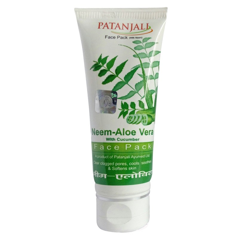 Patanjali neem aloevera with cucumber face pack