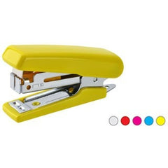 Kangaro Stapler Mini-10 -Product Features:  > Small Stapler with plastic body cover and Quality steel components   > Quick loading mechanism.   > Built-in reload viewing slot and Staple Remover   > One strip of No. 10 pin can be loaded  > Upto 10 sheets can be stapled at once.  > Throat Depth 28 mm  > Stapler length 62 mm  Note: Color may vary according to stock availabilty