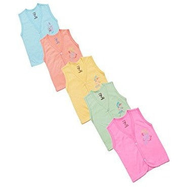 New born baby sleeveless top set (pack of 5 )