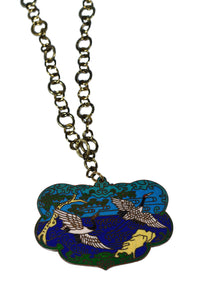Cloisonné Heron Necklace