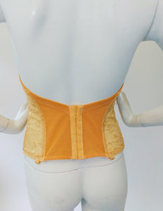 Sunshine Orange Hand Dyed Vintage Bustier