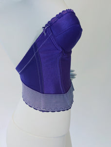 Royal Purple Hand Dyed Vintage Bustier