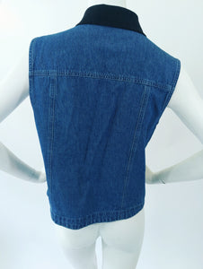 Denim Vest Top