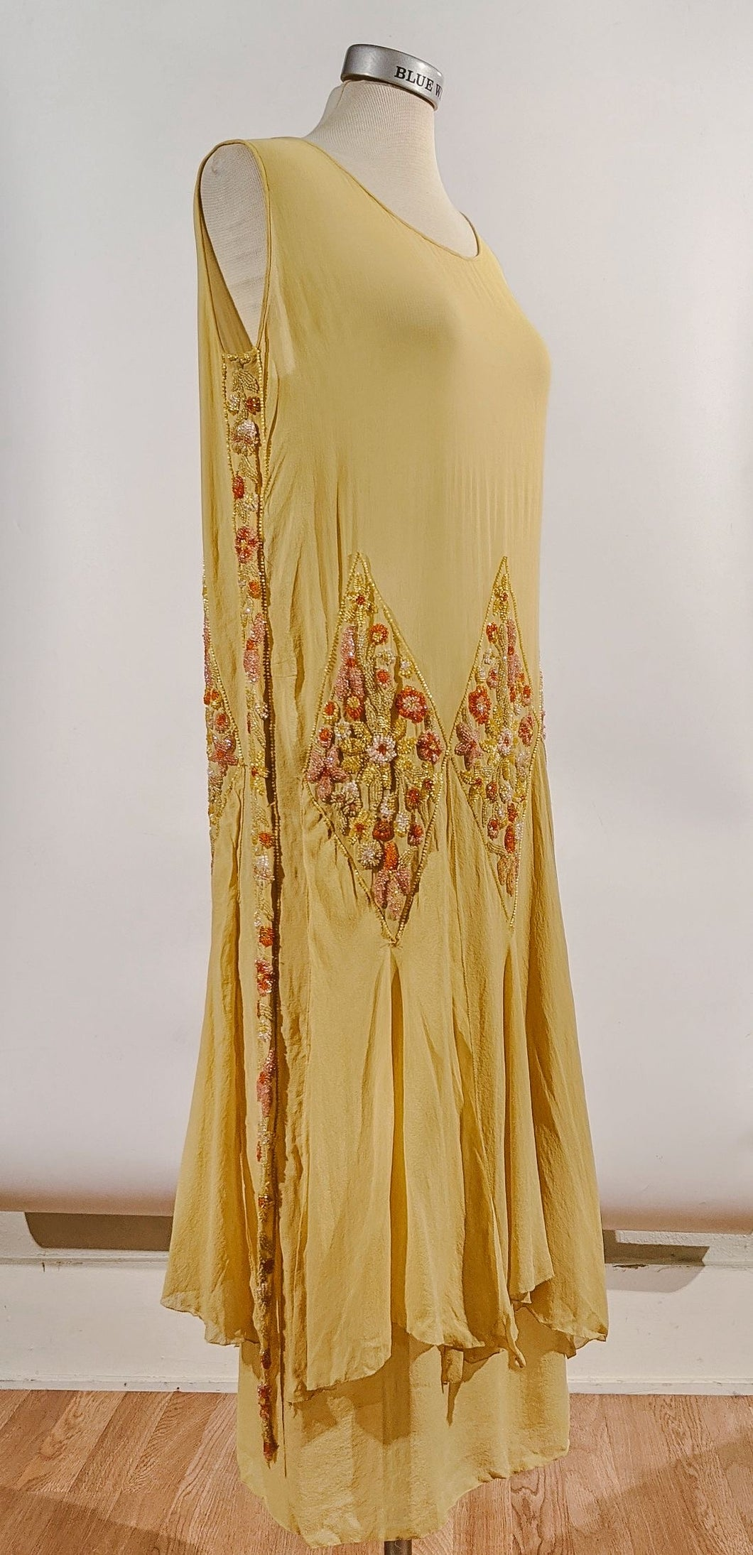 1920's Beaded Silk Dress