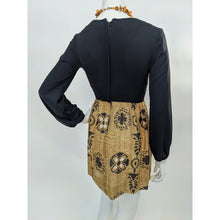 Load image into Gallery viewer, 70s Black Mini Dress