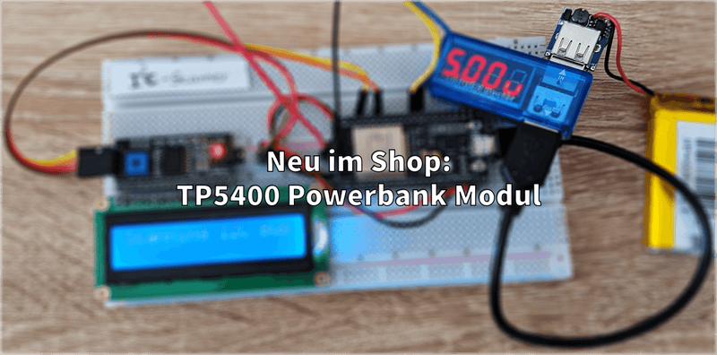 New in the shop: TP5400 USB Powerbank module