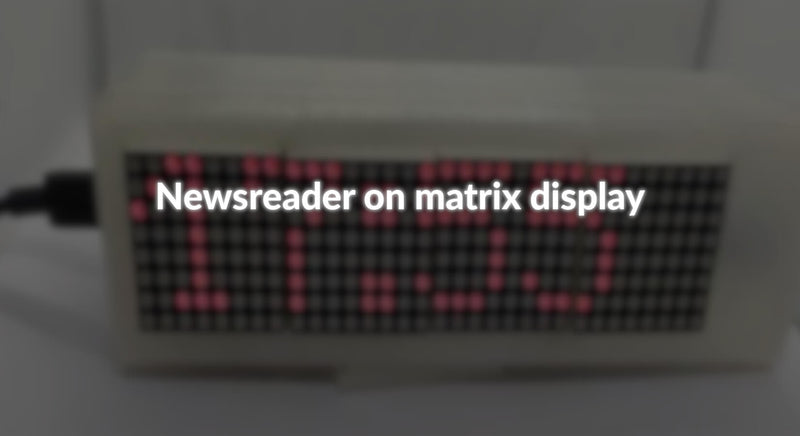 Newsreader auf Matrixdisplay