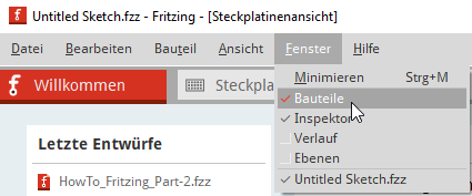 Enable component window