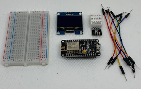 Sensate NodeMCU, DHT-22, Display, Kabel