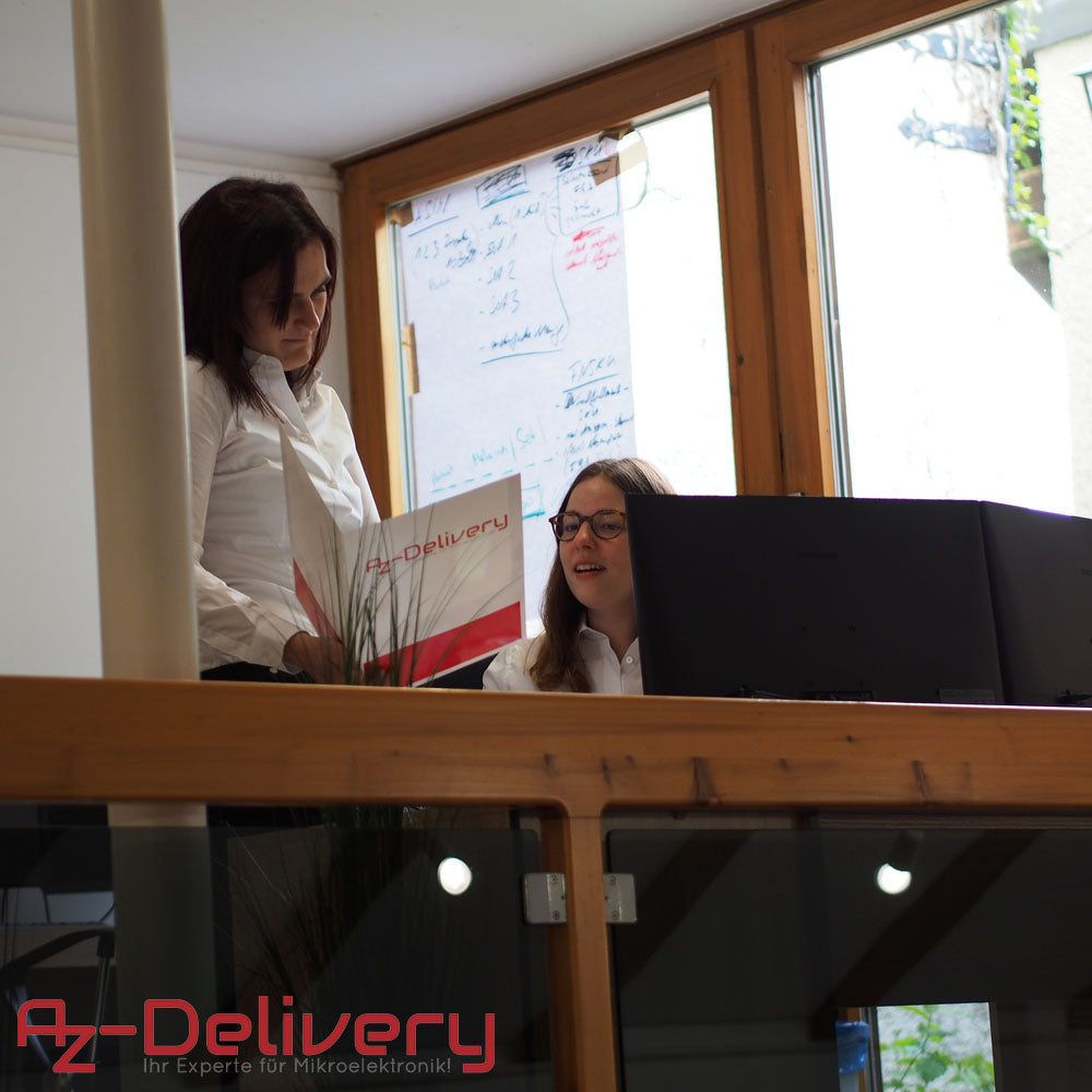 two az delivery employees working and talking