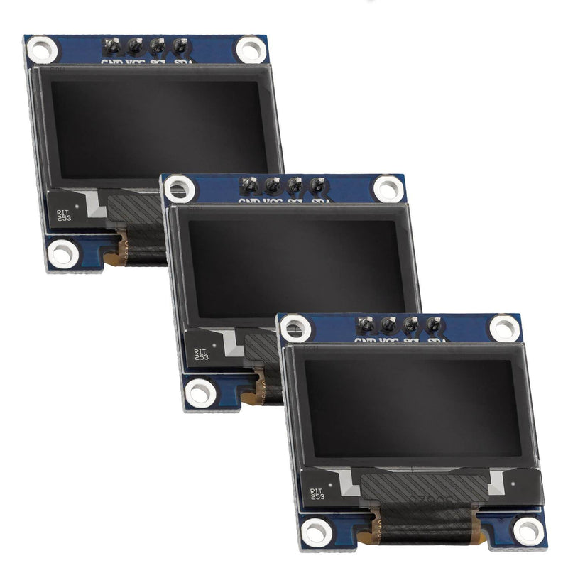 0,96 Zoll OLED I2C Display 128 x 64 Pixel für Arduino und Raspberry Pi Display AZ-Delivery 3x OLED
