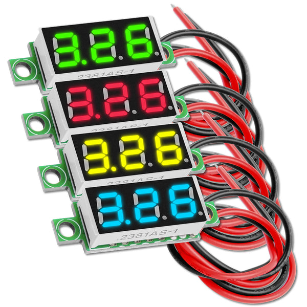 0.28 Inch Mini Digitale Voltmeter met 7-Segmenten Display 2.5V - 30V