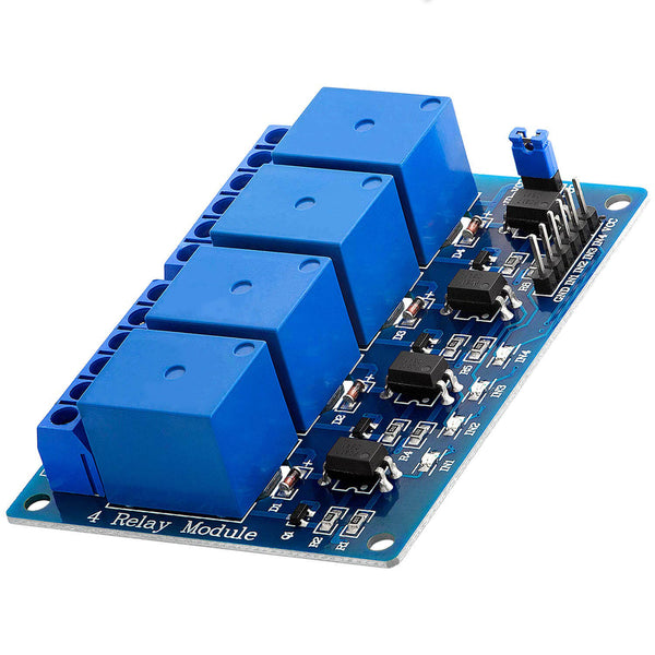 4-Relais Modul 5V mit Optokoppler Low-Level-Trigger für Arduino