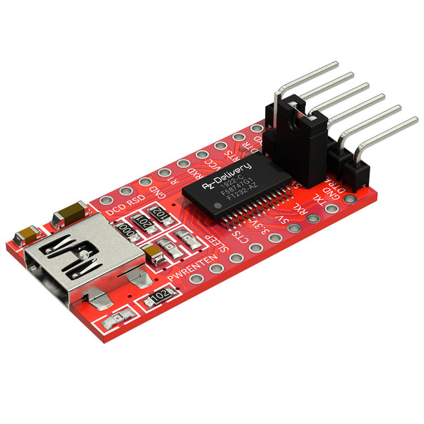 FT232-AZ USB to TTL Serial Adapter for 3.3V and 5V