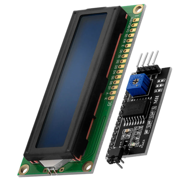 HD44780 1602 LCD Module Display Bundle with I2C Interface 2x16 Characters