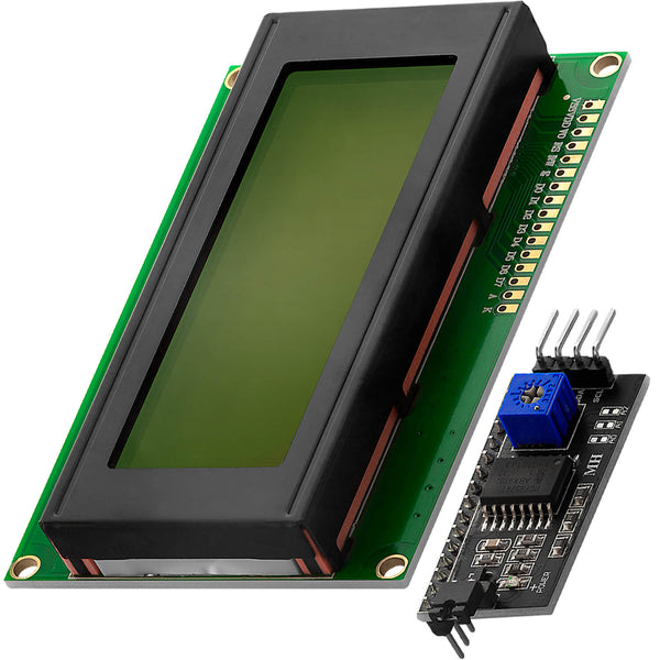HD44780 2004 LCD-display groene Bundle 4x20-tekens met I2C-interface voor Arduino