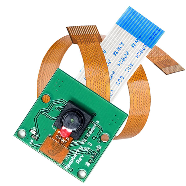 Camera with 15cm flex cable for Raspberry Pi and 30cm flex cable for Raspberry Pi Zero