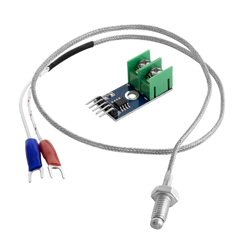 MAX6675 temperature sensor with K-type probe and jumper wire for Arduino and Raspberry Pi