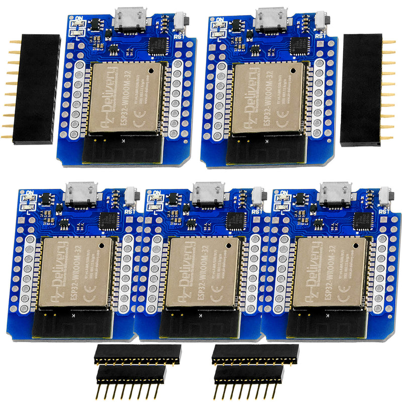 ESP32 D1 Mini NodeMCU WiFi Module + Bluetooth Internet Development Board compatible with Arduino
