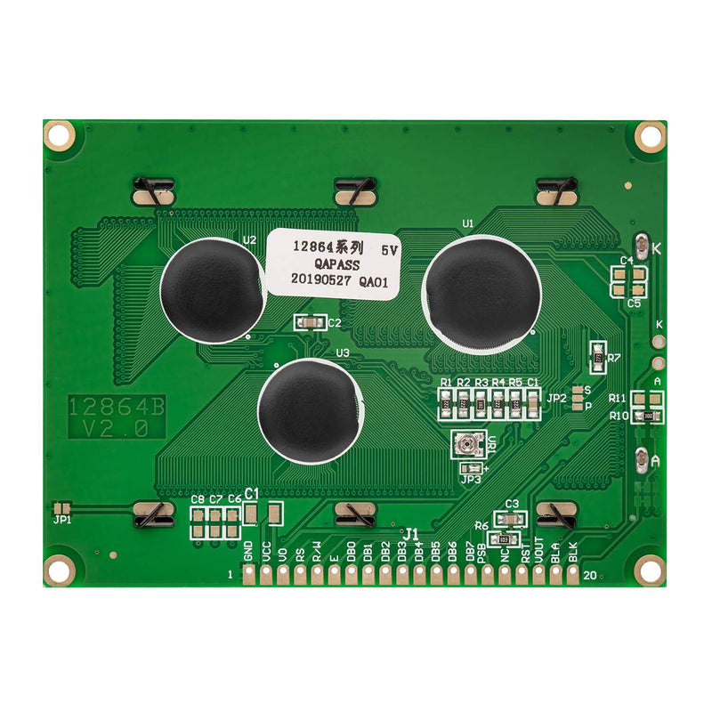 128 x 64 Pixel LCD Display 12864 Display Modul Display AZ-Delivery
