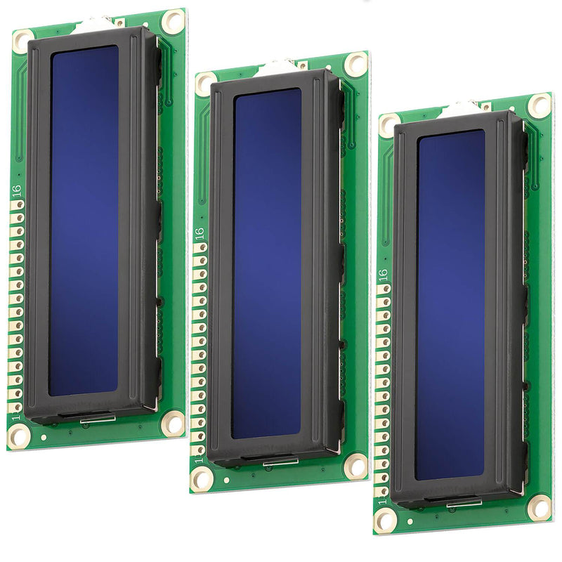 16x2 LCD blaues Display Display AZ-Delivery 3x Display