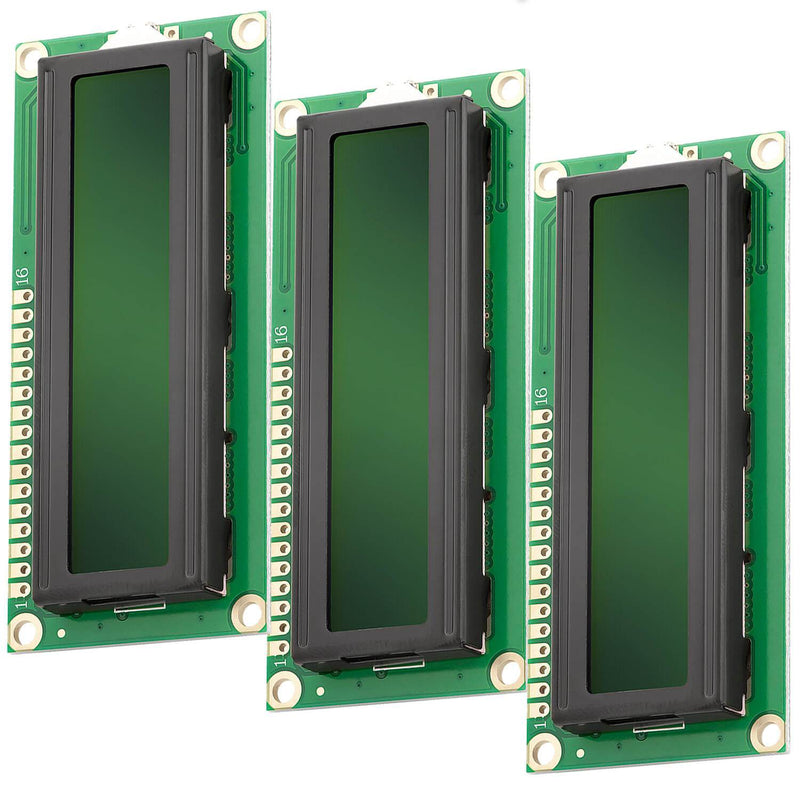 HD44780 1602 LCD module display 2x16 characters for Arduino (with green background) Display AZ-Delivery 3x display